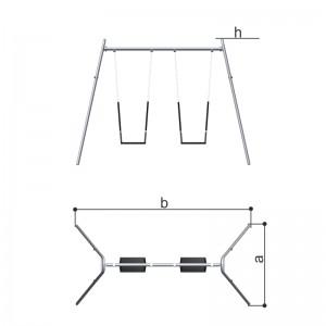 Качели двойные (цепная подвеска) Romana 108.18.00