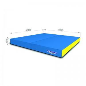 РОМАНА Мягкий щит (Мат) 1000*1000*100, в 2 сложения (голубой/желтый)