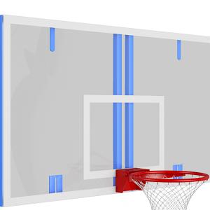 Щит баскетбольный игровой цельный из оргстекла 10 мм на металлической раме,