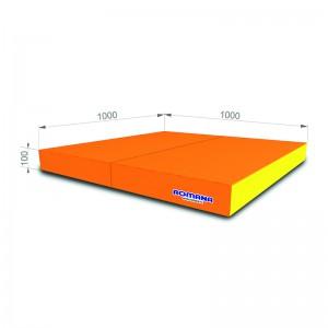 РОМАНА Мягкий щит (Мат) 1000*1000*100, в 2 сложения (оранжевый/желтый)