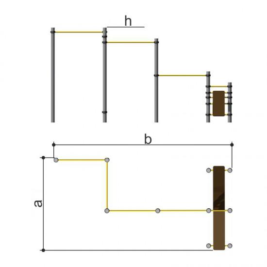 Комплекс из турников с лавками для пресса Romana 501.11.01