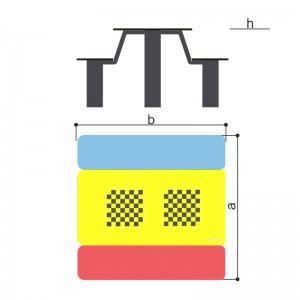 Стол со скамьями детский с рисунком «Шахматы» Romana 302.35.00-01