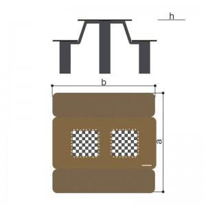 Стол со скамьями с рисунком «Шахматы» Romana 302.34.00-01
