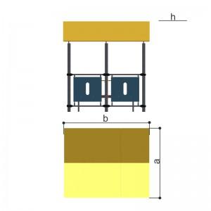 Беседка со скамьей и столом Romana 301.07.00
