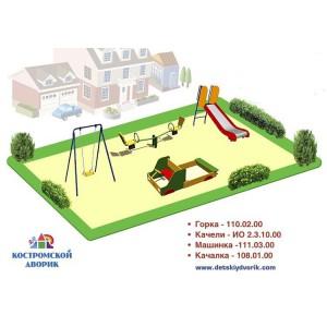Проект детской площадки младшей возрастной группы ДП-06