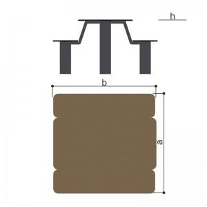Столик со скамьями Romana 302.34.00