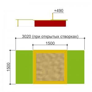 Песочница с крышкой Romana 109.22.00