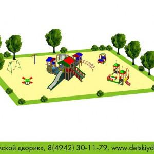 Проект детской площадки общей возрастной группы ДП-09