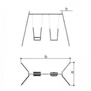 Качели двойные с разными сиденьями (цепная подвеска) Romana 108.18.00-02