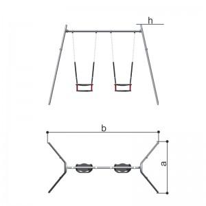 Качели двойные сиденье со спинкой (цепная подвеска) Romana 108.18.00-01