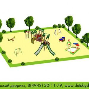 Проект детской площадки общей возрастной группы ДП-10