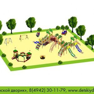 Проект детской площадки общей возрастной группы ДП-11