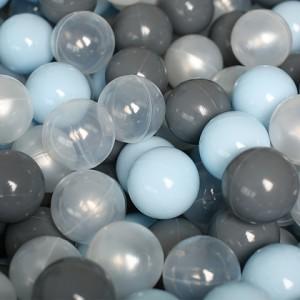 Romana Airball Набор шариков для сухого бассейна 150 шт (голубые/серые/жемчужные/прозрачные)