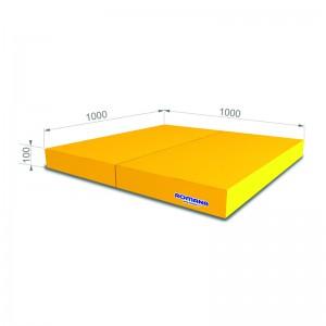 РОМАНА Мягкий щит (Мат) 1000*1000*100, в 2 сложения (желтый)