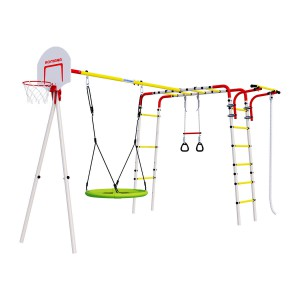 Детский спортивный комплекс для дачи ROMANA Акробат - 2 (с качелями гнездо)