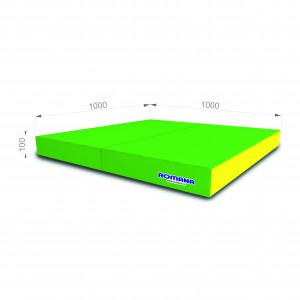 РОМАНА Мягкий щит (Мат) 1000*1000*100, в 2 сложения (светло-зеленый/желтый)